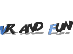 VR and FUN Text Only 3D Logo