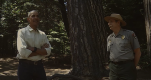 president obama with park ranger vr