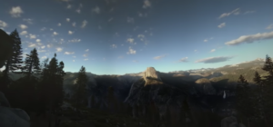 yosemite sunset in vr