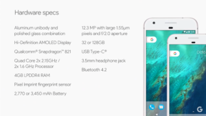 google-pixel-smartphone-specs