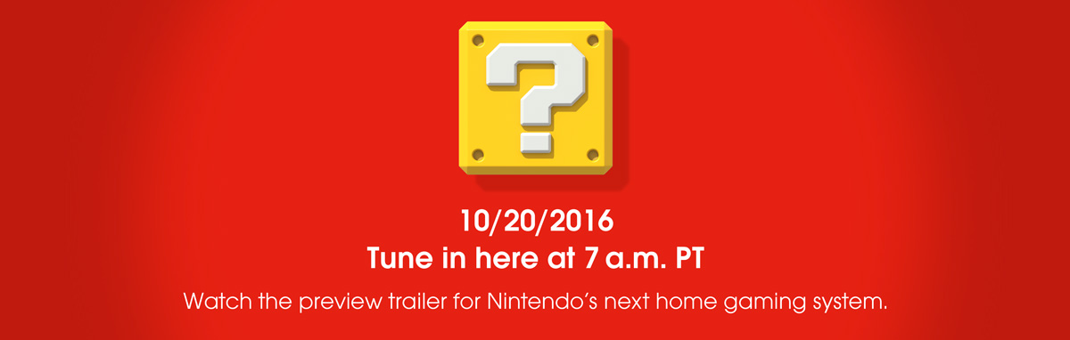 Nintendo NX Preview Trailer Coming Tomorrow