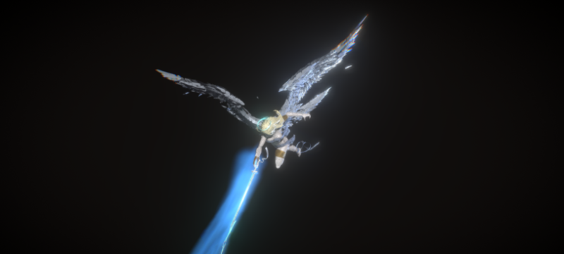 angel in 3d vr