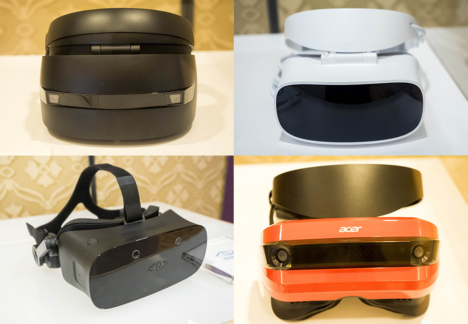 holographic vr headsets from hp, acer, dell, windows