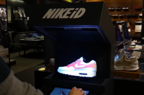 nike id augmented reality display