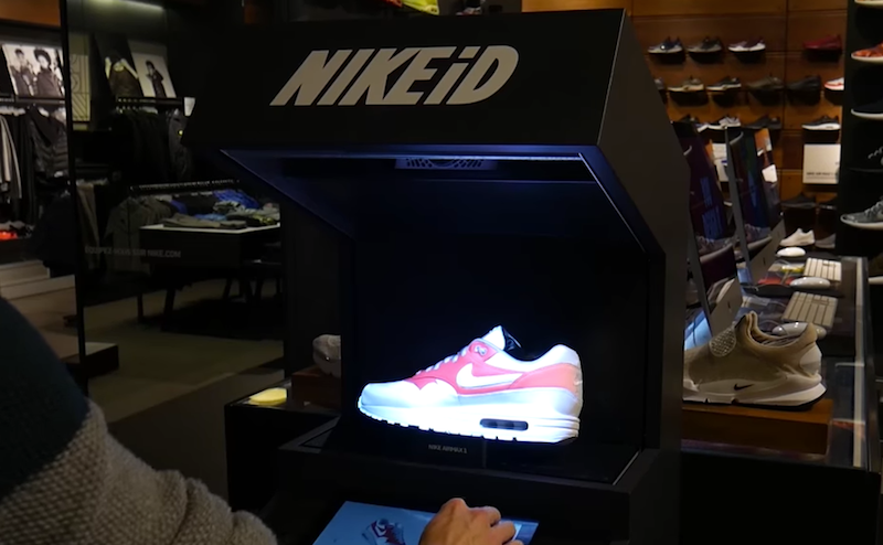 Nike Releases An Augmented Reality Display On iD Shoes To Show The Customizable Options