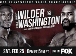 Deontay Wilder VS Gerald Washington WBC Heavy Weight Championship