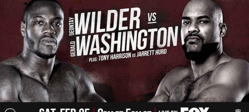 Deontay Wilder VS Gerald Washington WBC Heavy Weight Championship