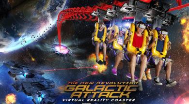 Galactic Attack virtual reality coaster