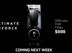 Nvidia GTX 1080Ti first look