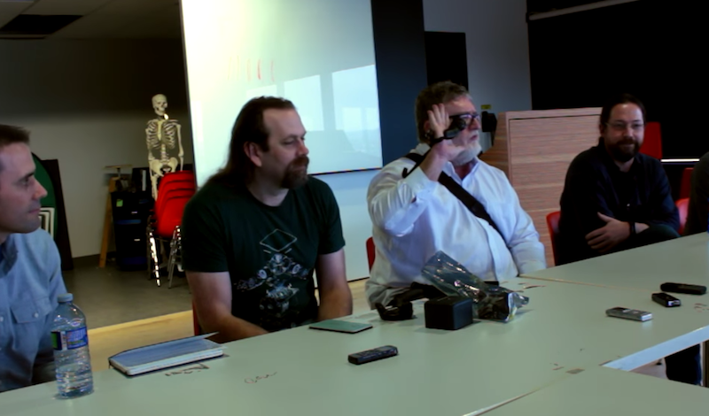 Gabe Newell Shows Valve's New VR Hardware Including New Controllers And New Room Tracking Sensors