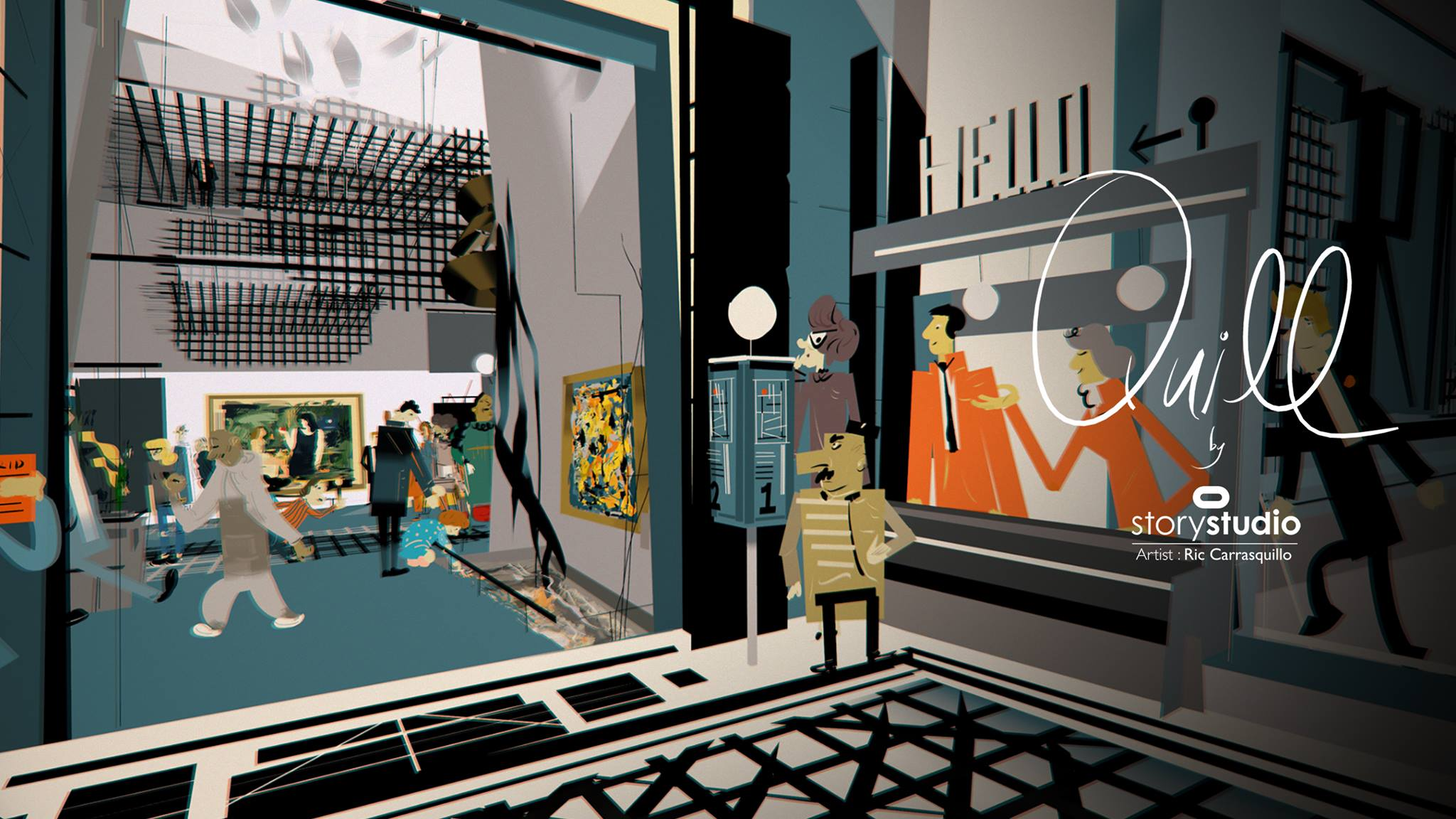 """Watch This Amazing Walk Through Of A VR Painting Called """"First Tuesday"""" By Ric Carrasquillo On Quill"""