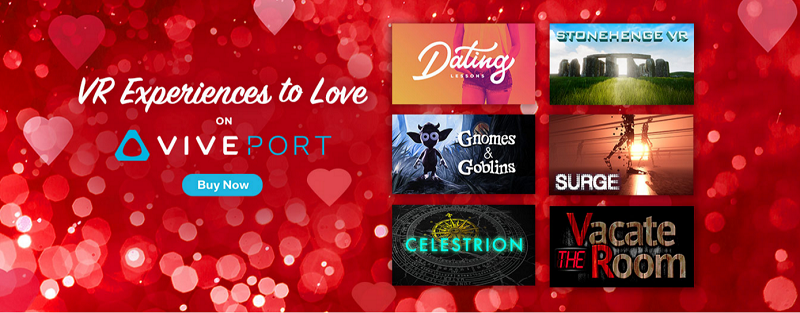 HTC Vive Has Announced Their Valentines Sale 2017 On Viveport For Six VR Games