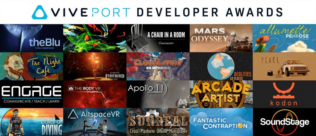 HTC Announces The Viveport Developer Awards Winners