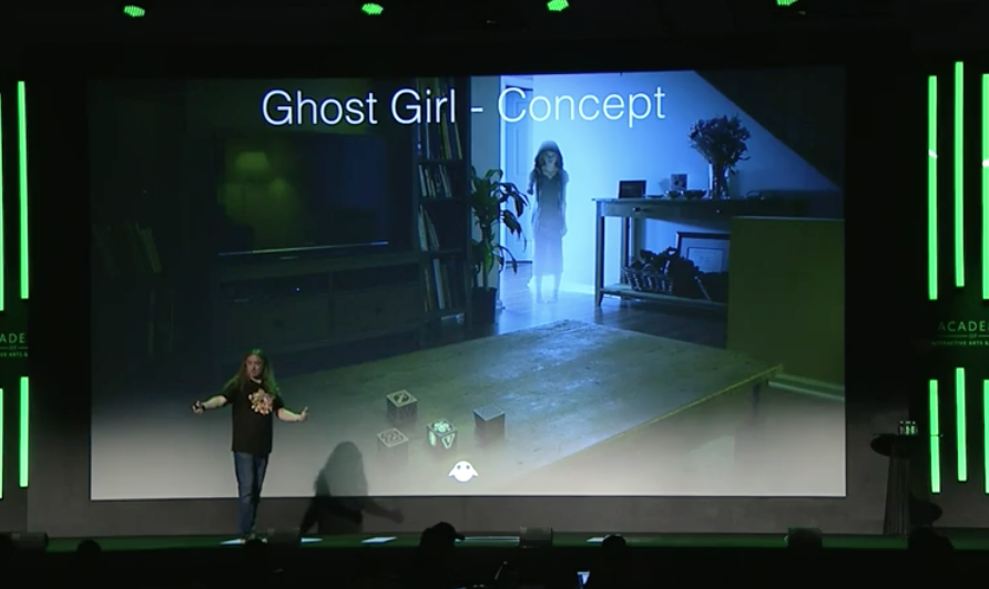 magic leap ghost girl concept mixed reality game