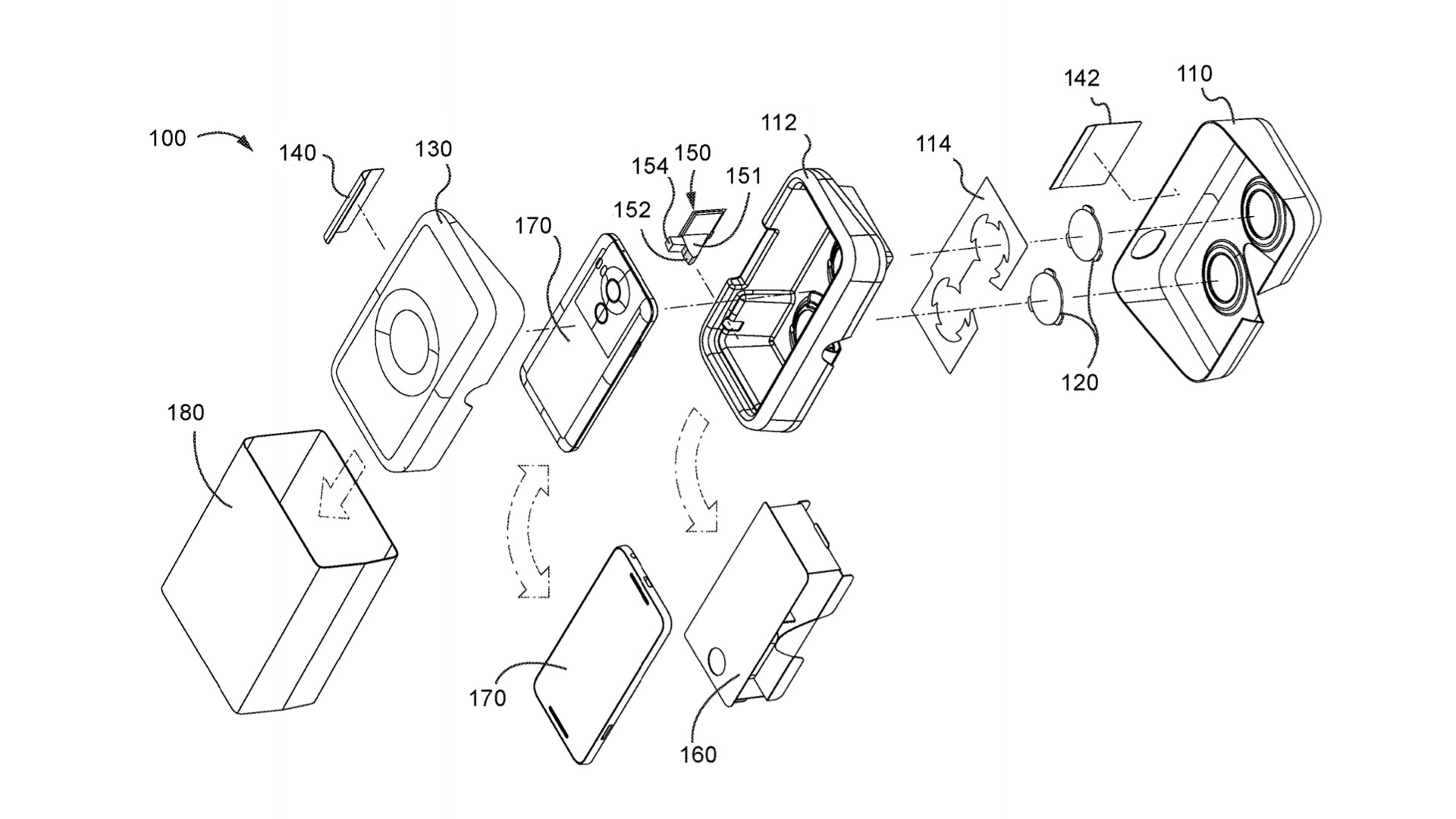 Google Files New Patent For Integrated Mobile Device Packaging And VR Headset