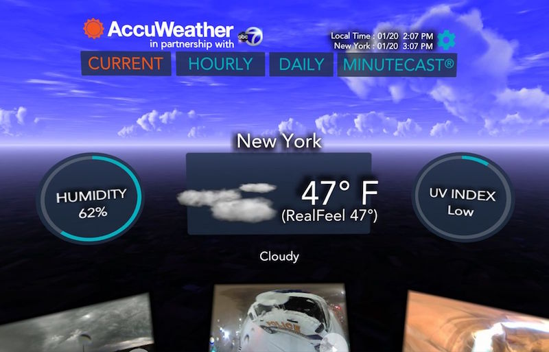 You Can Now Casually Check Today's Forecast In VR With The AccuWeather – Weather for Life App