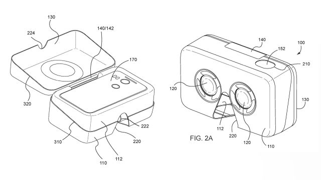 new google vr headset patents