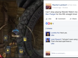 samsung gear vr live-streaming on to facebook