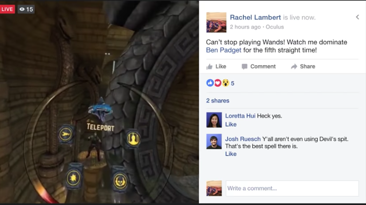 You Will Now Be Able To Livestream From The Oculus Gear VR To Facebook