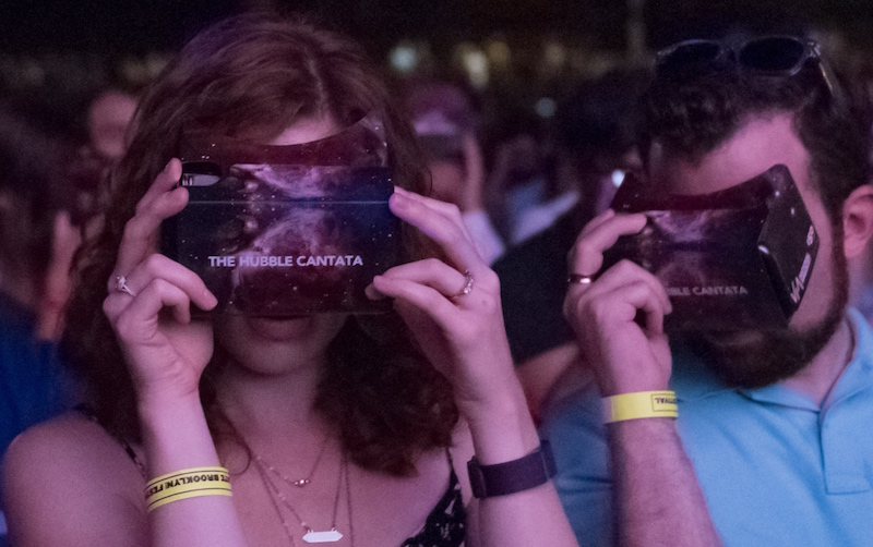 The Hubble Cantata VR experience at BRIC's Celebrate Brooklyn