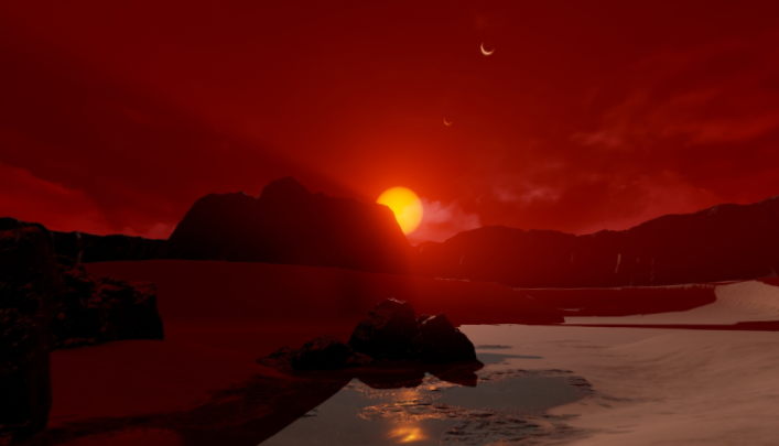 NASA Depicts What It Would Look Like On The Surface Of Planet TRAPPIST-1d