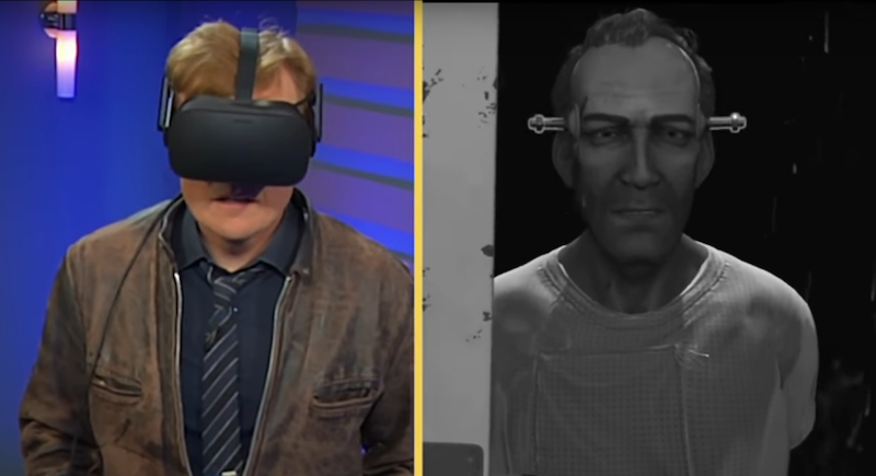Conan O'Brien Reacts To 'Wilson's Heart' On The Oculus Rift