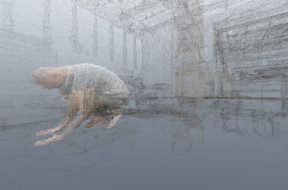 Dust_01_imagery displayed in VR headset_dancer Roman Zotov