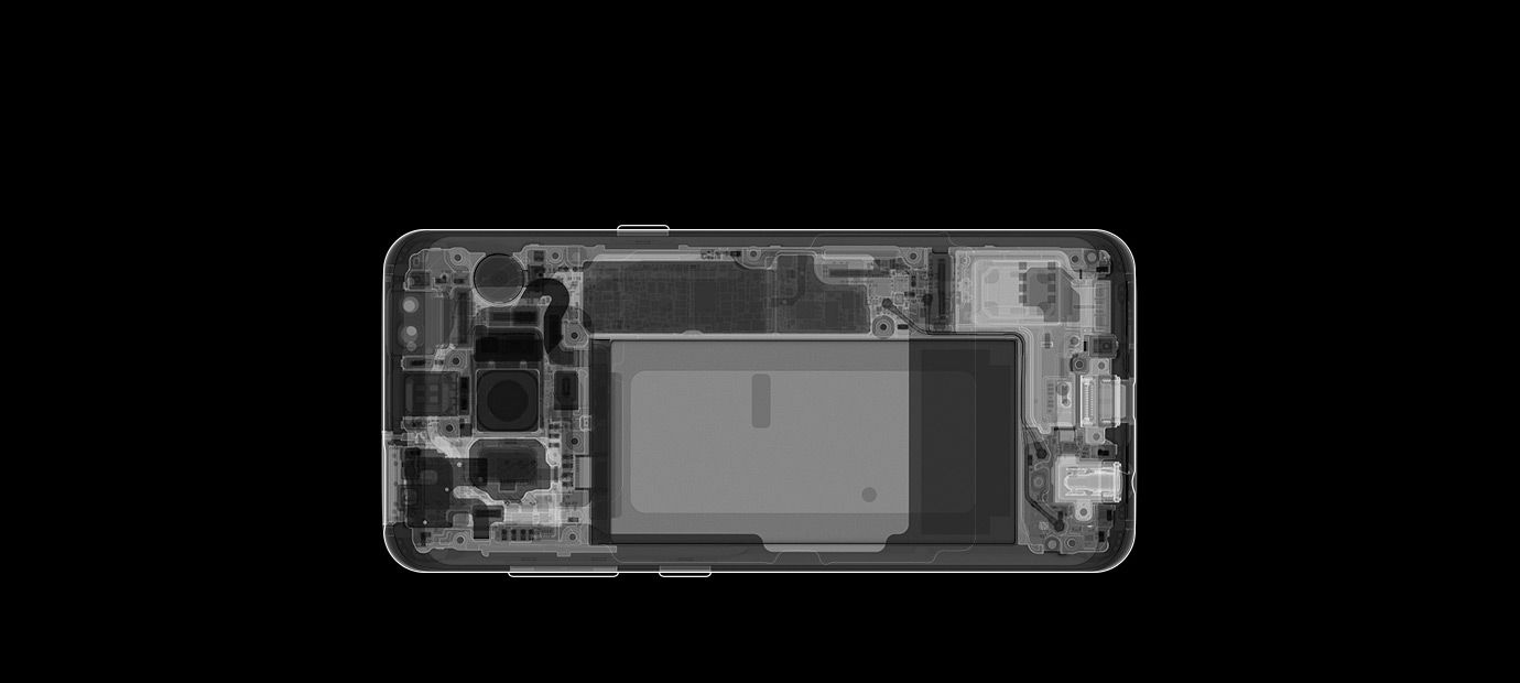 samsung galaxy s8 x-ray picture