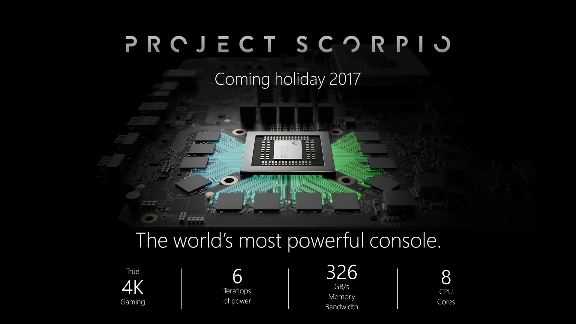 xbox project scorpio announcement