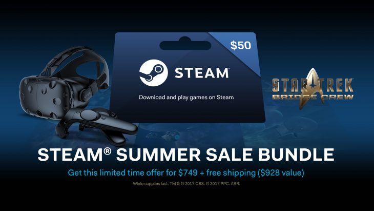 HTC Vive Reveals Steam Summer Sale With Discounts On Hardware And Games