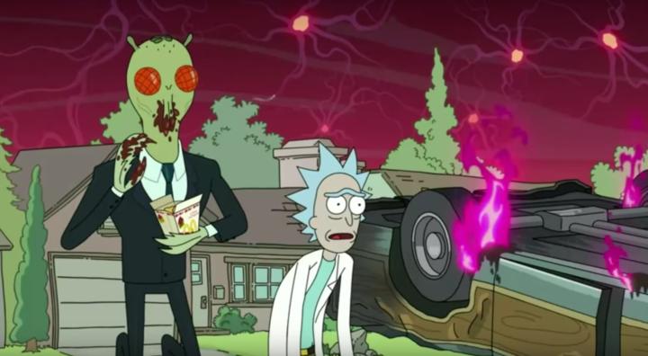 Rick and Morty Creator Receiving Jug Of Szechuan Sauce From Mcdonald's
