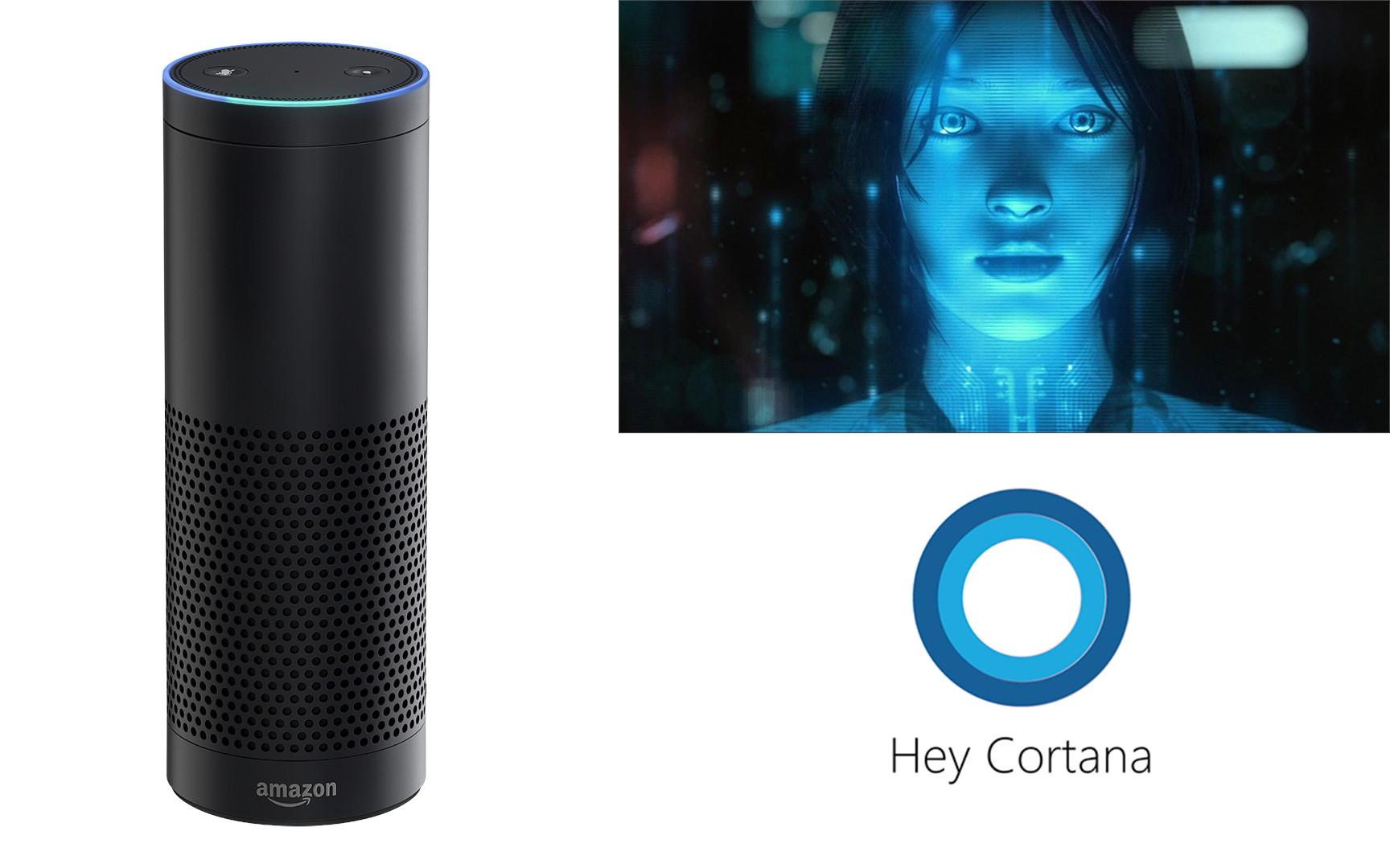 Alexa and Cortana Virtually Shaking Hands In A Partnership