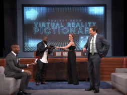 virtual reality pictionary jimmy fallon brie larson marlon wayans