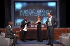 virtual reality pictionary jimmy fallon brie larson marlon wayans