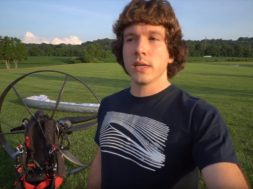tucker gott flying to mcdonalds on paramotor