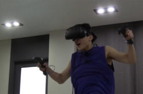 xiumin from exo trying VR
