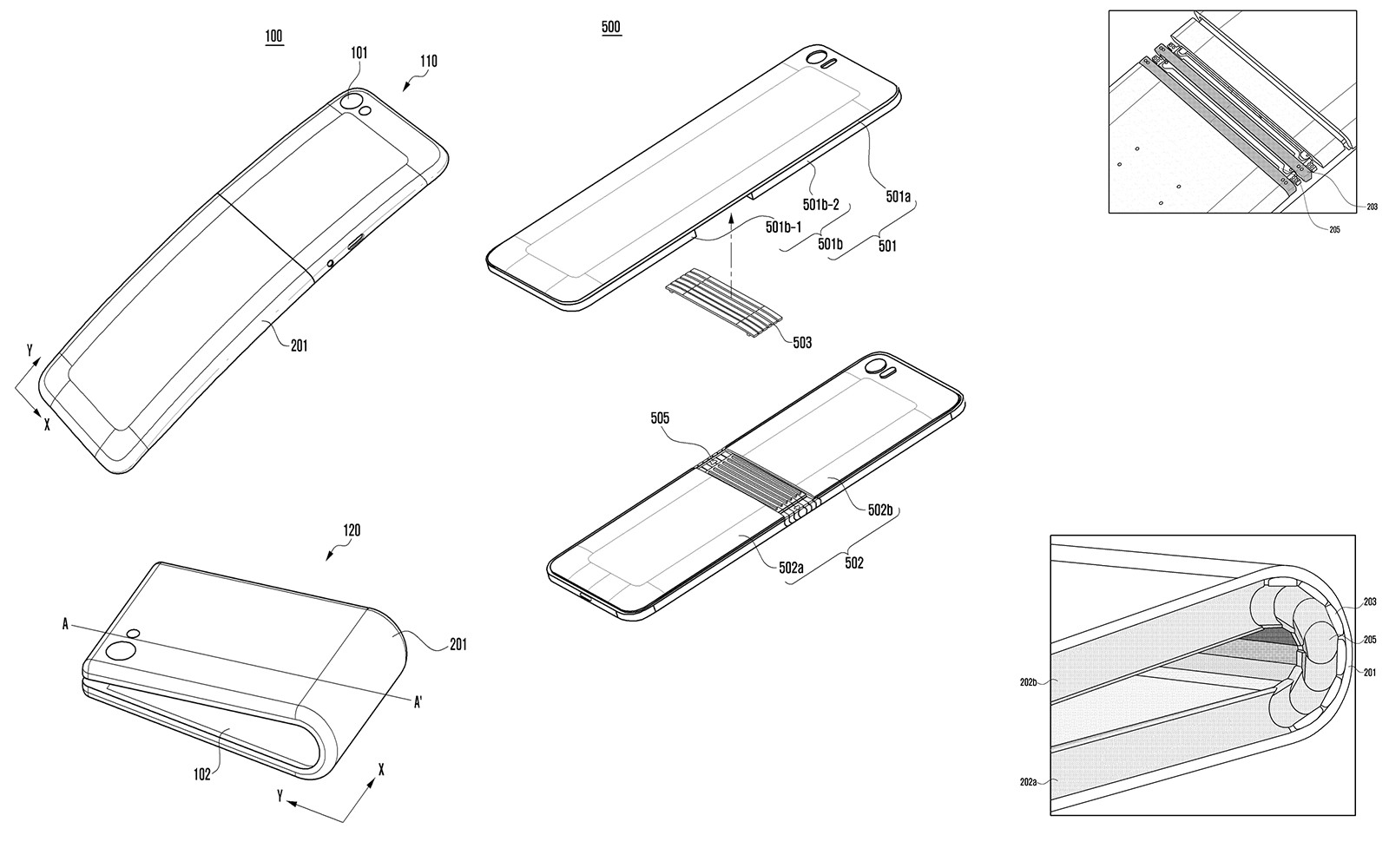 New Sketches Submitted For The Samsung Galaxy X Bendable Smartphone
