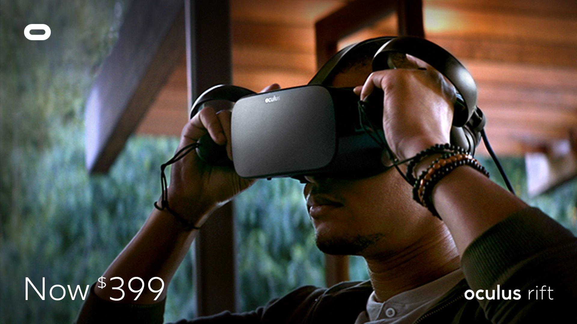 oculus rift price 399
