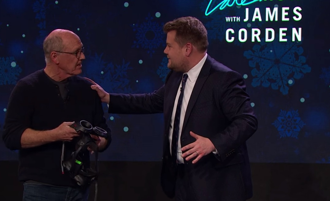 Watch How This Legendary Disney Animator Draws The Mermaid In VR On James Corden's Show