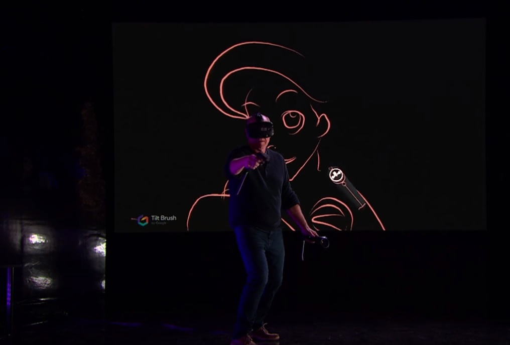 glen keane tilt brush vr james corden show