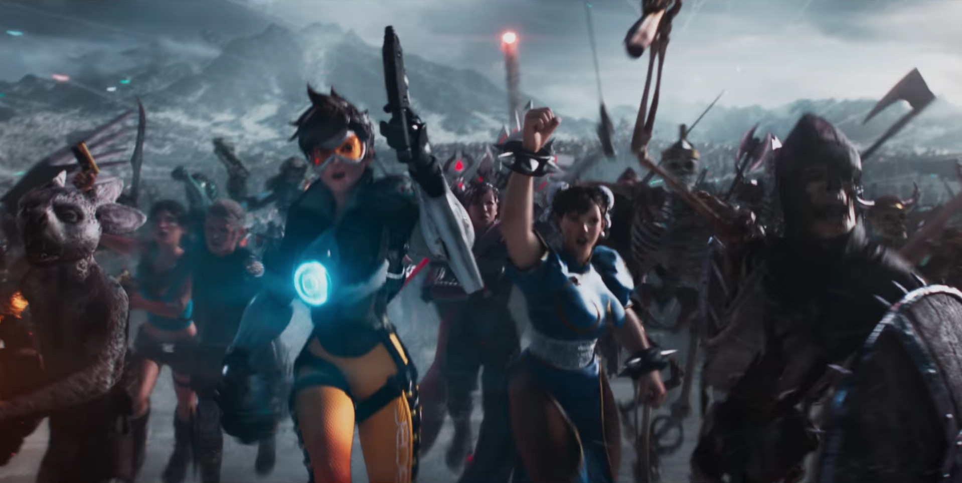 tracer and chun li in ready player one
