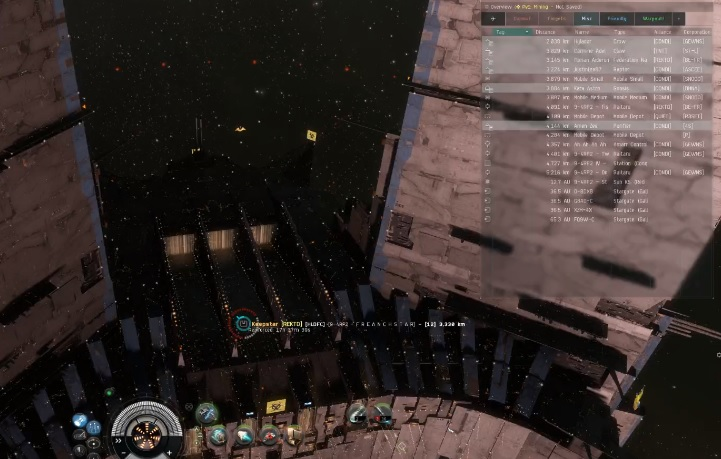 closer look at the space station on eve online