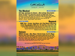 coachella 2018 full lineup with background