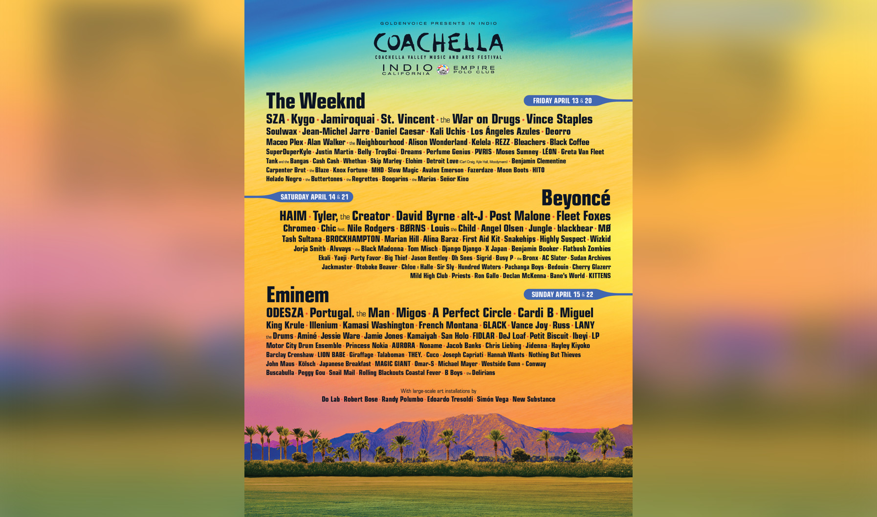 Coachella 2018 Full Lineup