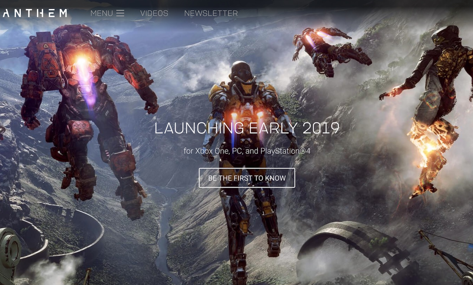 Anthem By EA Is Now Pushed Back Until 2019