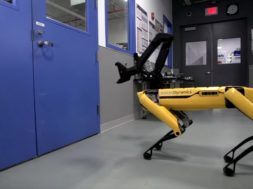 boston dynamics spot mini opens door