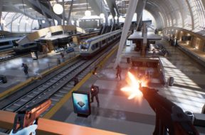 bullet train vr fps game