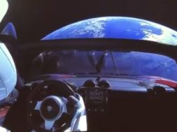elon musk sending tesla car into space with spacex