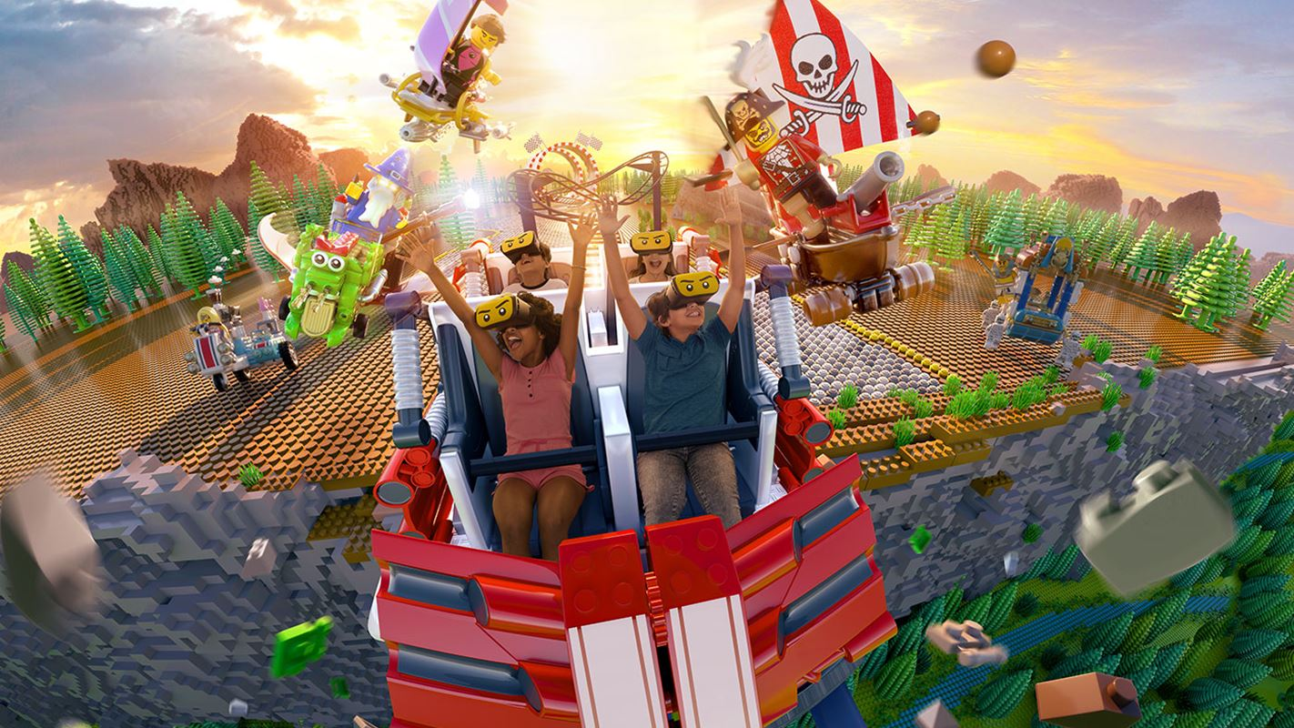LEGOLAND Is Opening Up Their First VR Roller Coaster Ride Called 'The Great Lego Race'