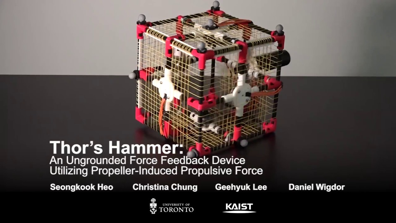 Meet Thor's Hammer An Ungrounded Force Feedback Device Using Propeller Propulsion